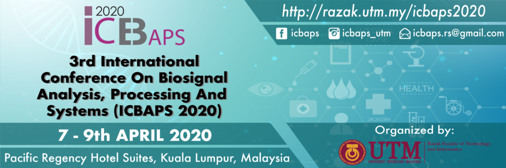 3rd International Conference on BioSignal Analysis, Processing and Systems (ICBAPS 2020)