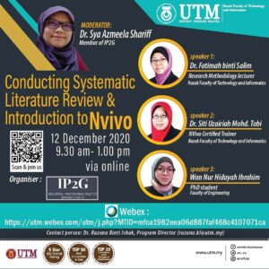 Conducting Systematic : Literature Review & Introduction to Nvivo