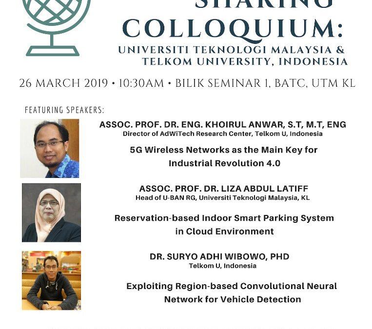 KNOWLEDGE SHARING COLLOQIUM UTMRAZAK MALAYSIA & TELKOM UNIVERSITY INFONESIA