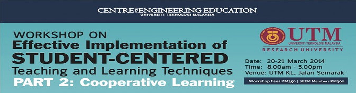 workshop on Effective Implementation of Student Centred Learning Techniques: Part 2