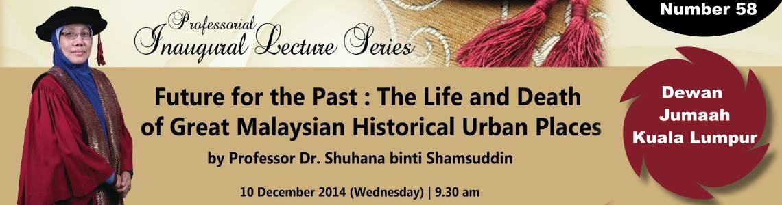 58th Professorial Inaugural Lecture Series