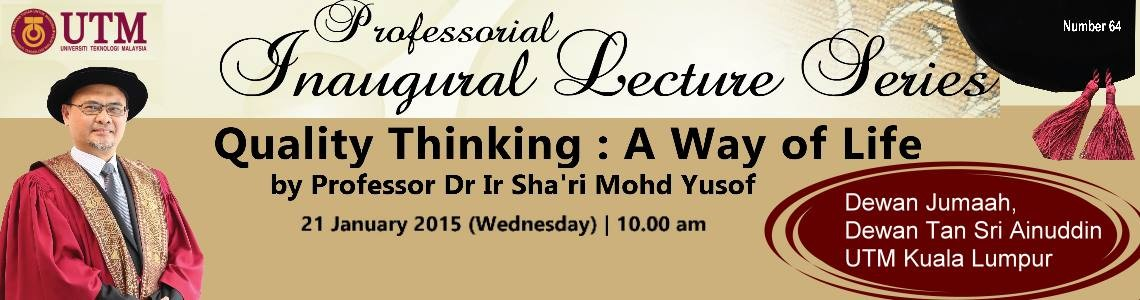 64th Professorial Inaugural Lecture Series