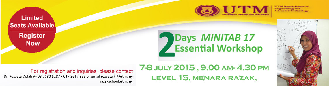 2 Days MINITAB 17 Essential Workshop