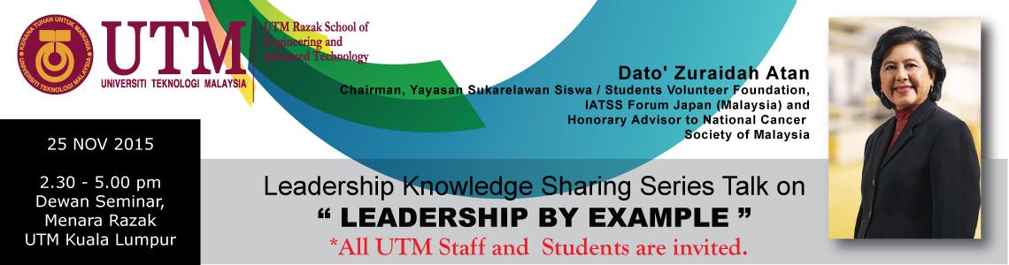Leadership Knowledge Sharing Series Talk
