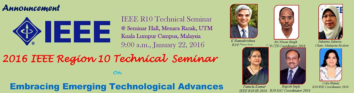 IEEE Region 10 Technical Seminar