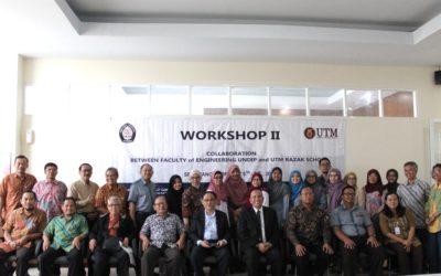 Lawatan Kolaborasi dan Bengkel Penentuan Aktiviti Kerjasama Sekolah Razak UTM dan Fakultas Teknik, Universitas Diponegoro Semarang, Indonesia 05 – 08 Feb 2018