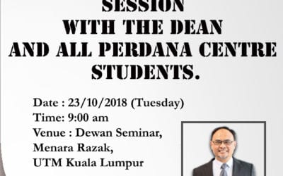 Special Engagement  Session  With The Dean  and All Perdana Centre  Students