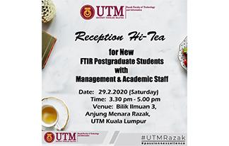 Reception Hi Tea For New Postgraduate Students